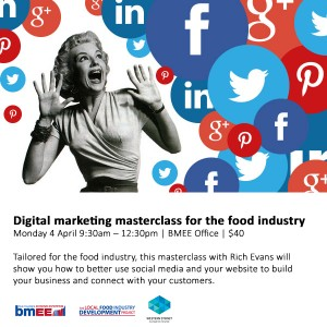 Digital marketing masterclass flyer