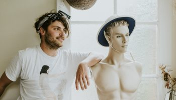 Nick McKinlay with mannequinn
